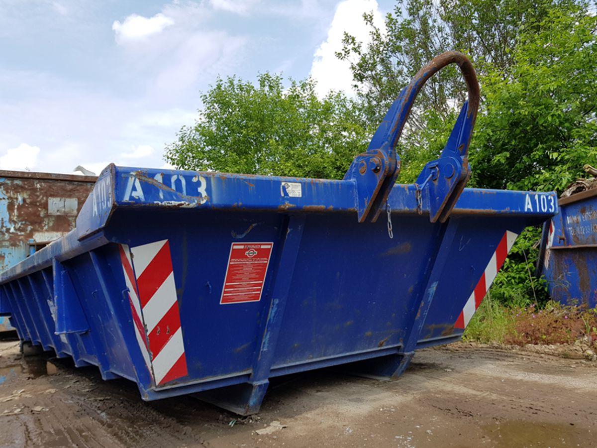 Abrollcontainer 10m³ für Bauschutt und Erdaushub