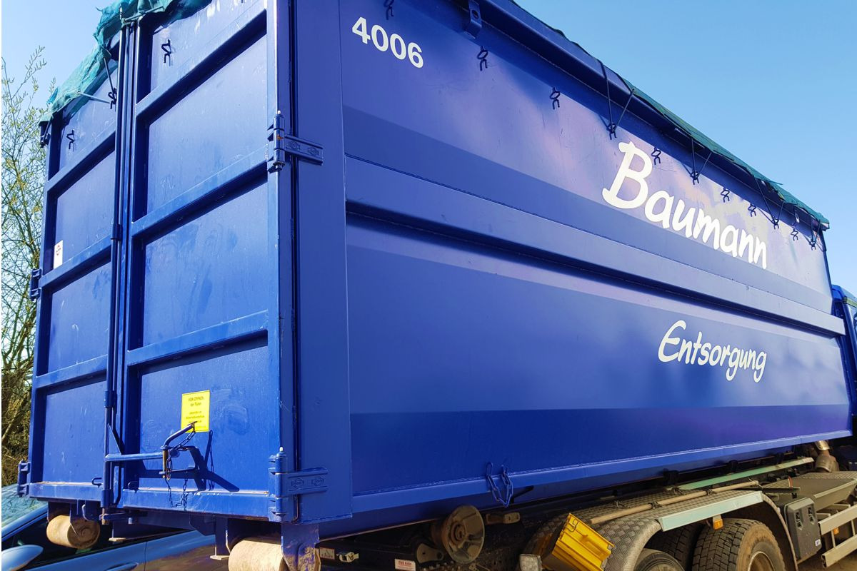 40m³ Abrollcontainer für Grünabfälle, Holz und Michmüll