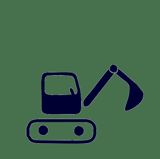 Materiallieferung und Baggerarbeiten