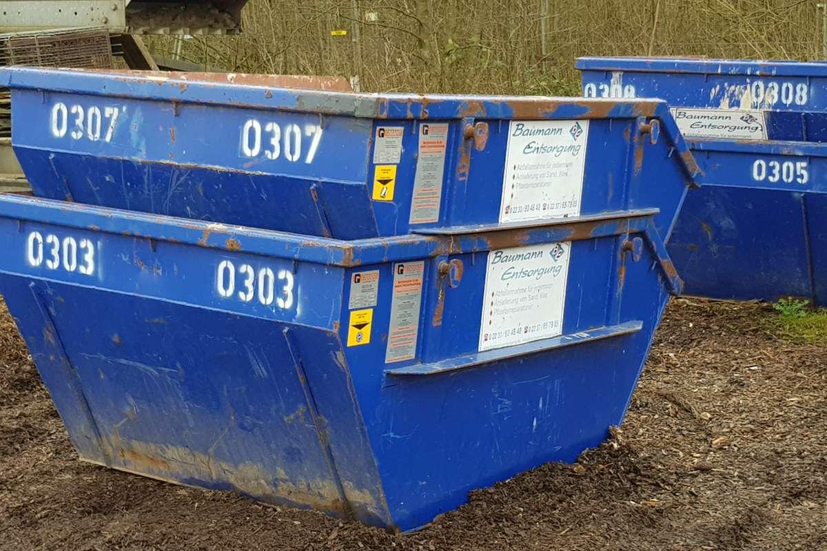 Container 2-3qm für Bauschutt oder Erde bei wenig Platz