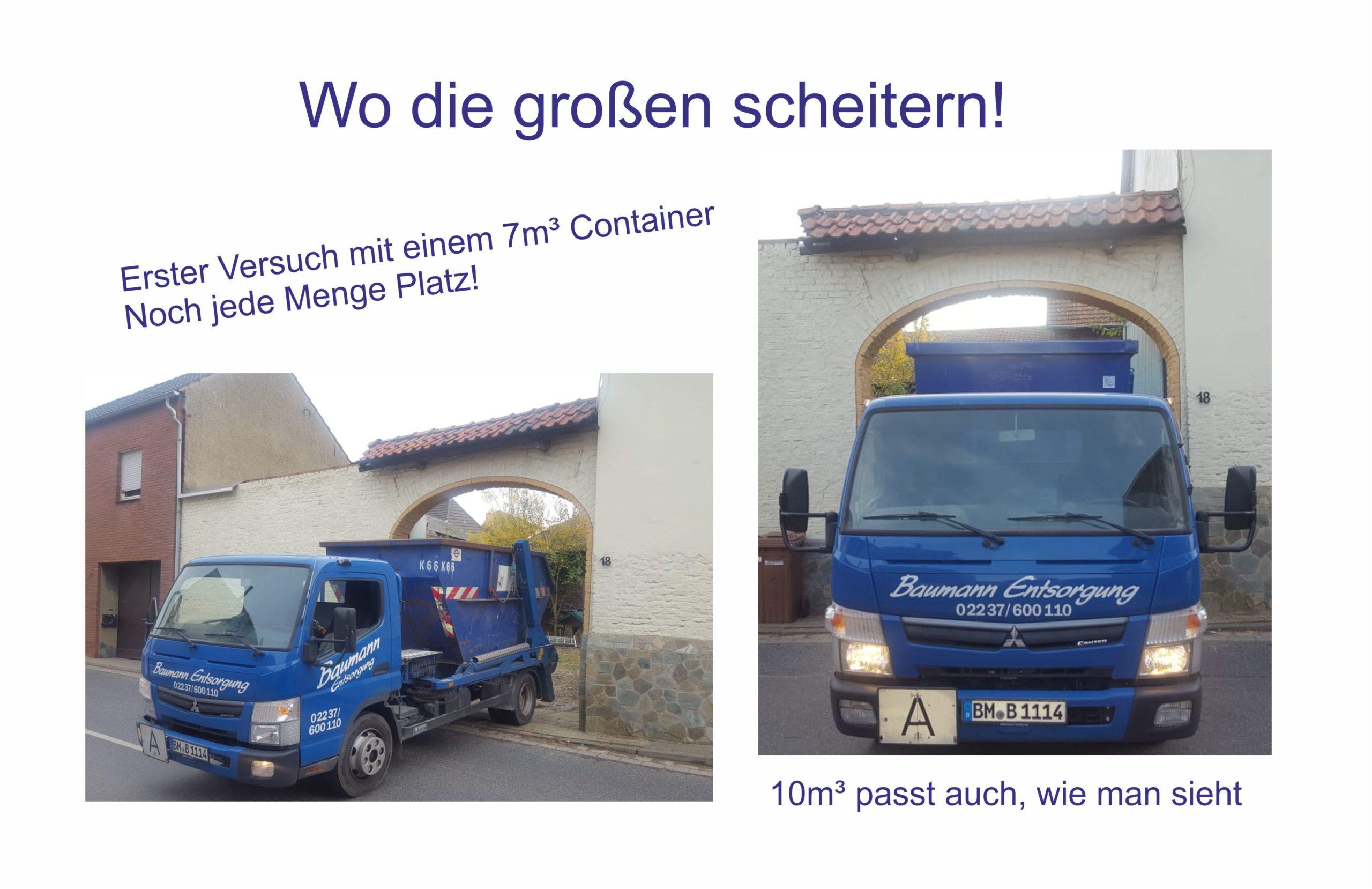 kleiner LKW für geringe Platzverhältnisse